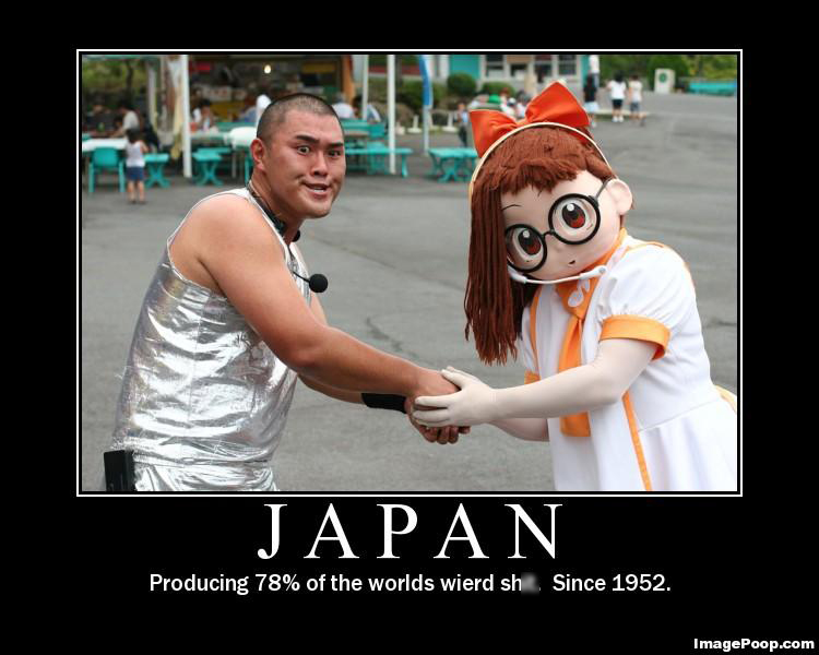 Một hình ảnh được lưu truyền trên Internet (Internet meme) nói về Nhật Bản. Theo sau hình ảnh này là cả một bài viết dài nói về những thứ kỳ dị mà chỉ có thể tìm thấy ở Nhật.