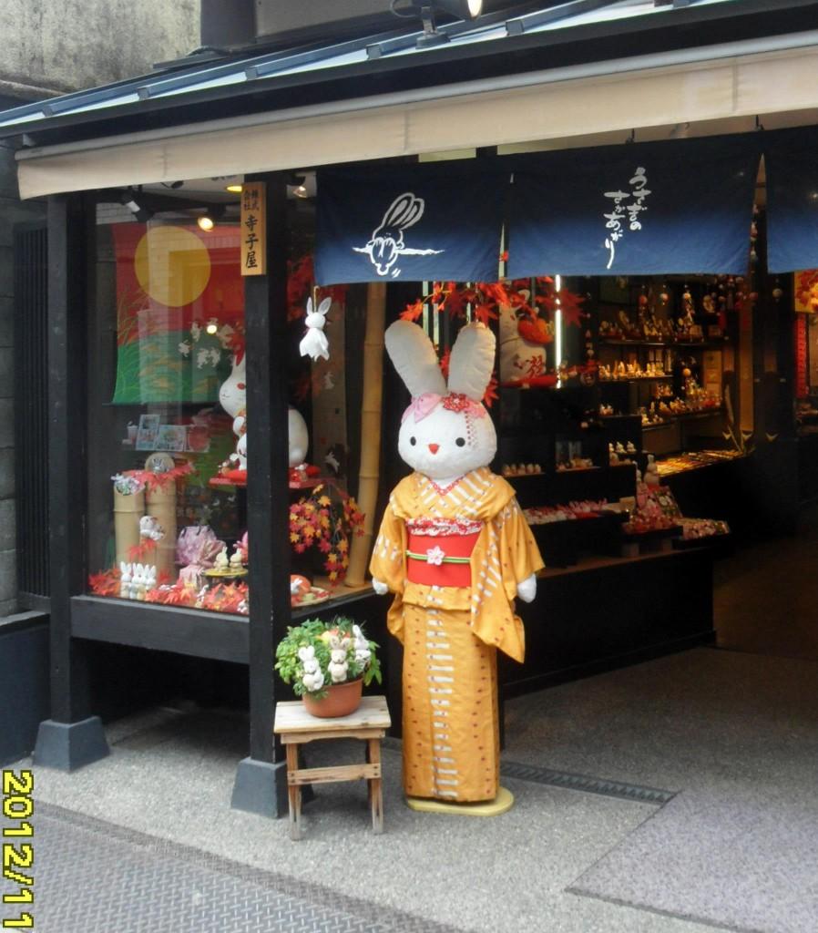 Thoạt nhìn chúng ta có thể hiểu nhầm rằng nhân viên của cửa hàng này là một... chú thỏ khổng lồ. Thật tiếc (thật may?) là chú lại không cử động hay nói chuyện được