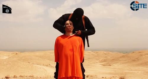Nhà báo Mỹ James Foley, một trong những con tin nước ngoài bị IS hành quyết vì chính phủ không trả tiền chuộc. Ảnh: SITE