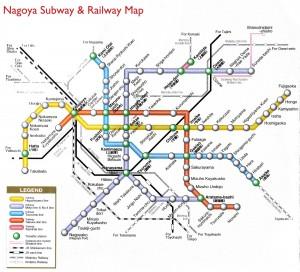 Bản đồ hệ thống đường sắt ở Nagoya